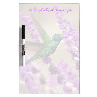 Wings of Faith Sparkling Violet-ears Hummingbird Dry Erase Board