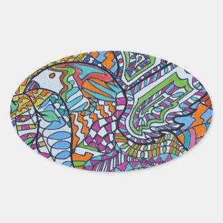 Wings Of Peace Oval Sticker
