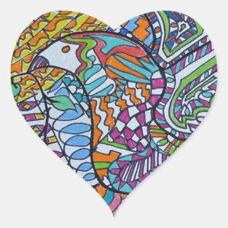 Wings Of Peace Heart Sticker