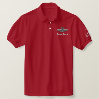 Wings on Golf Polo W/F-4 and Call Sign