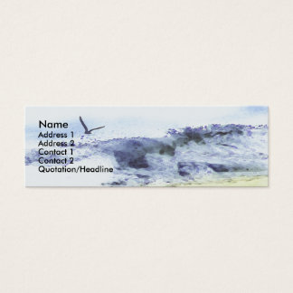 Wings over water   Watercolour Mini Business Card