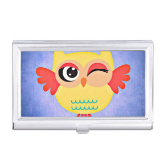 Winking Owl Business Card Holder