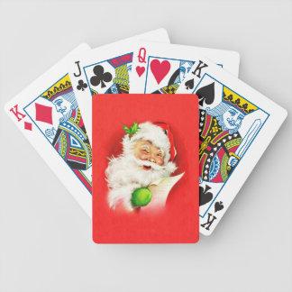 Winking Santa Claus Bicycle Playing Cards
