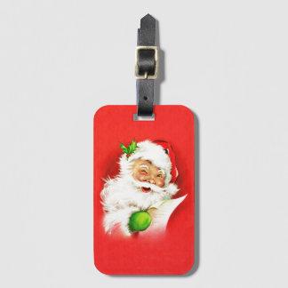 Winking Santa Claus Luggage Tag