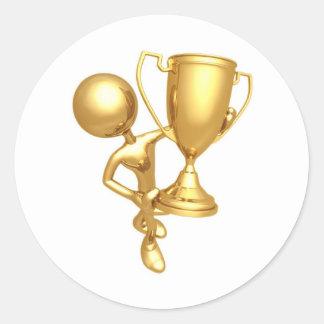 winner round sticker