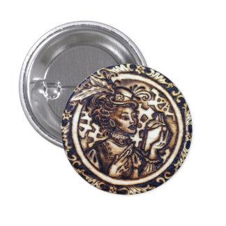 Winnifred- Steampunk Button Pin