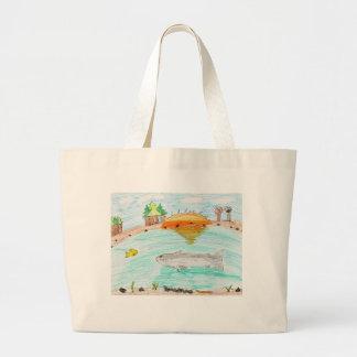 Winning artwork by C. Rousseau, Grade 4 Large Tote Bag