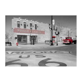 Winslow Arizona Red Splash Photograph Acrylic Wall Art