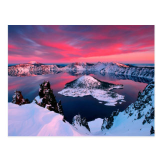 Winter at Crater Lake Oregon Postcard