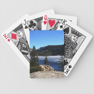 Winter at Pinecrest Lake Bicycle Playing Cards