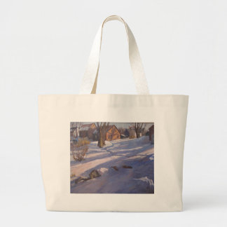 Winter at the Barn Large Tote Bag