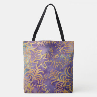 Winter Batik Tote Bag