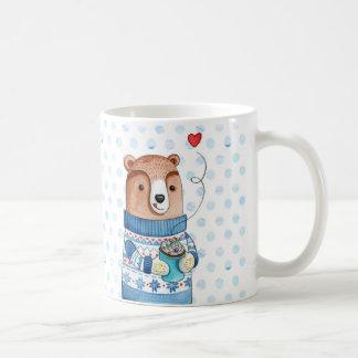 Winter bear coffee mug
