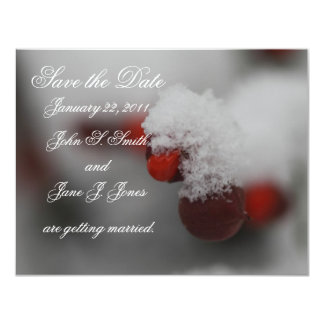Winter Berries Save the Date Invitation