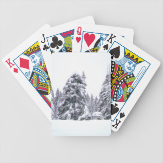 winter bicycle playing cards