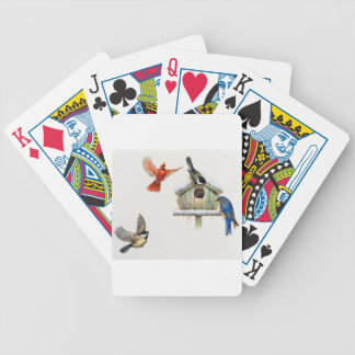 Winter Birdhouse Bicycle Playing Cards