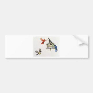Winter Birdhouse Bumper Sticker