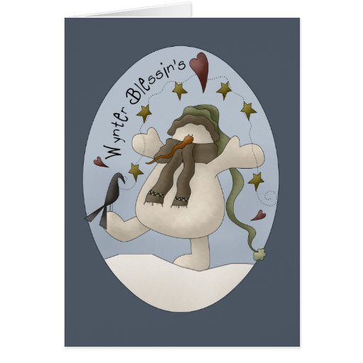 Winter Blessings Greeting Card