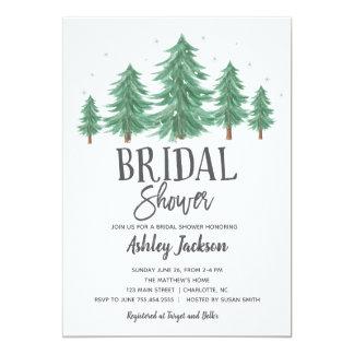 winter bridal Shower Greenery Woods Card