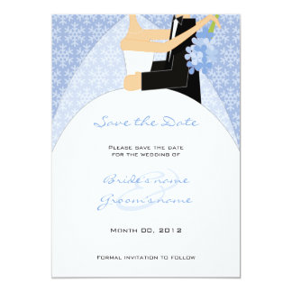 Winter Bride and Groom Save the Date cards 13 Cm X 18 Cm Invitation Card