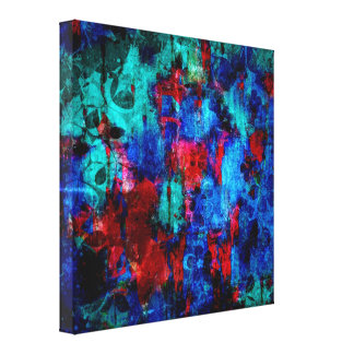 Winter Dreaming Abstract Painting Fine Art Stretched Canvas Print
