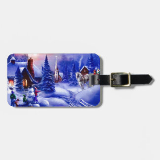 Winter dreamland luggage tag