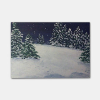 Winter Evening Post-it® Notes