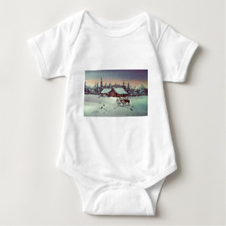 WINTER FARM  by SHARON SHARPE Baby Bodysuit