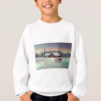 WINTER FARM  by SHARON SHARPE Sweatshirt