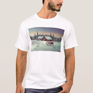 WINTER FARM  by SHARON SHARPE T-Shirt