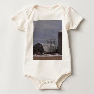 Winter Farm Land Baby Bodysuit
