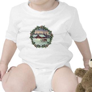WINTER FARM & WREATH by SHARON SHARPE Baby Bodysuits