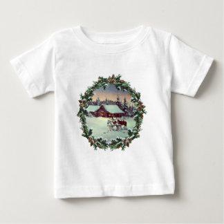 WINTER FARM & WREATH by SHARON SHARPE Tshirts