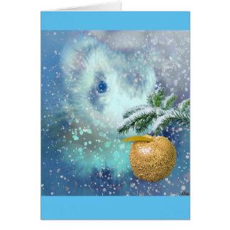 Winter Ferret Christmas Card