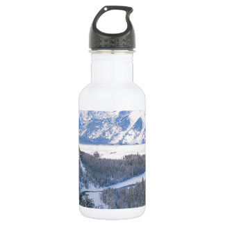 Winter First Snowfall Snake River Wyoming 532 Ml Water Bottle
