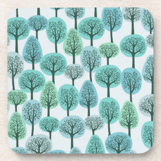 Winter Forest Pattern Coaster