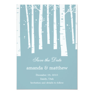 Winter Forest Wedding Save The Date Cards 13 Cm X 18 Cm Invitation Card