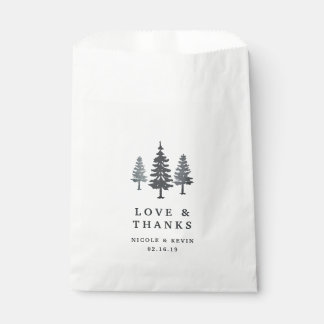 Winter Forest Wedding Thank You Favour Bags