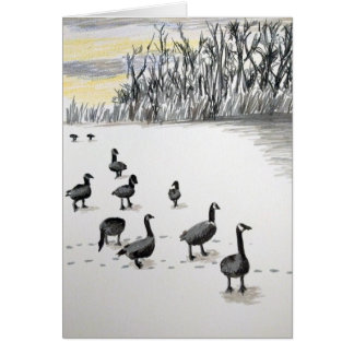 Winter Geese Card