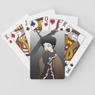 Winter Geisha Playing Cards