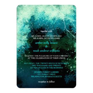 Winter Glitters Mystic Forest Wedding 13 Cm X 18 Cm Invitation Card