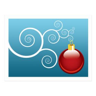 Winter Greeting Elegant Christmas Tree Ornament Postcard