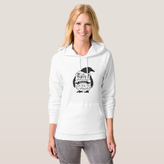 Winter Hoodie - Penguin with saying