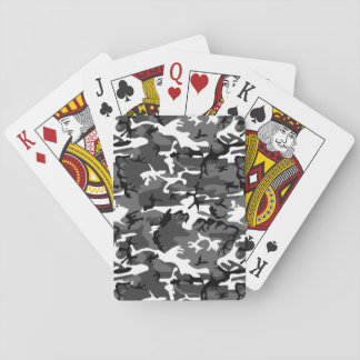 Winter Ice Camo Playing Cards