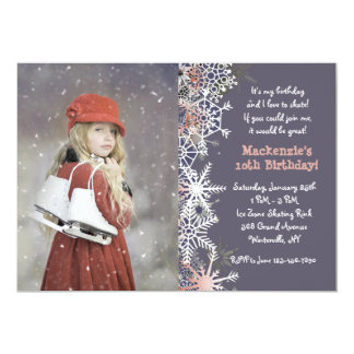Winter Ice Skating Invitation