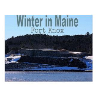 Winter in Maine Postcard