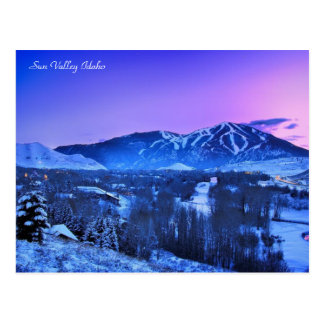 Winter in Sun Valley Idaho Postcard
