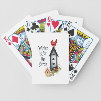 WINTER IS FOR THE BIRDS BICYCLE PLAYING CARDS