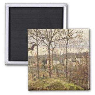 Winter Landscape at Louveciennes, c.1870 Magnet