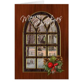 Winter Landscape Window Christmas Card